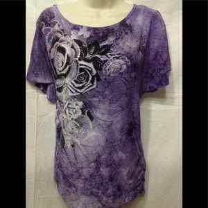 Women's size XL DRESSBARN embellished blouse